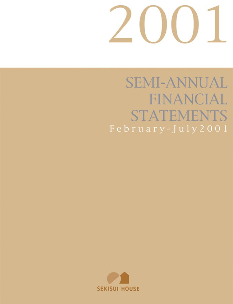 SEMI-ANNUAL FINANCIAL STATEMENTS 2001
